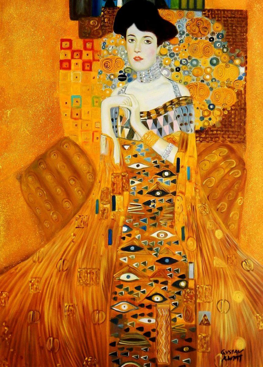 Gustav Klimt - Adele Bloch Bauer I i95633 80x110cm exzellentes Ölbild handgemalt