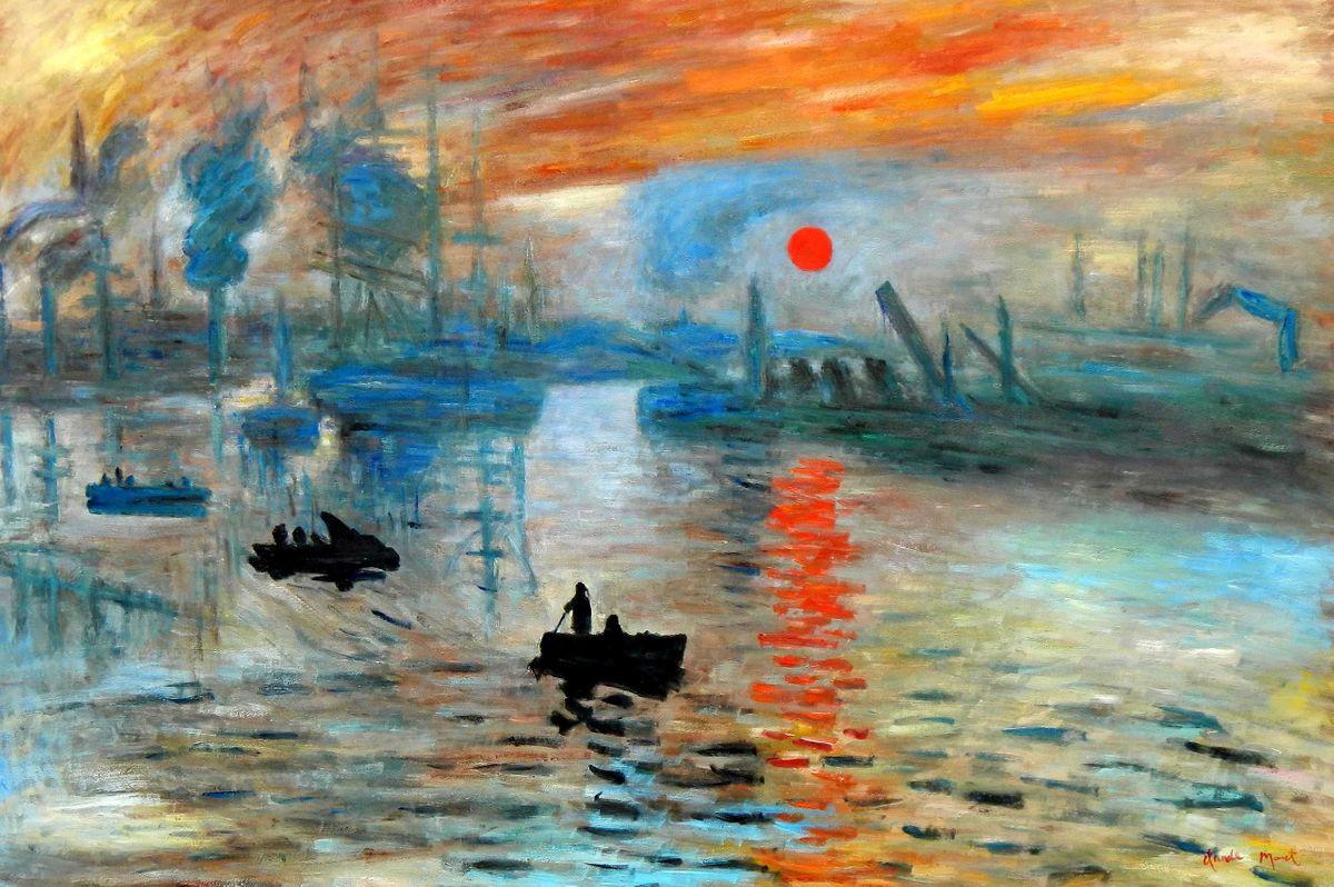 Claude Monet - Sonnenaufgang p95974 120x180cm Ölgemälde handgemalt Museumsqualität