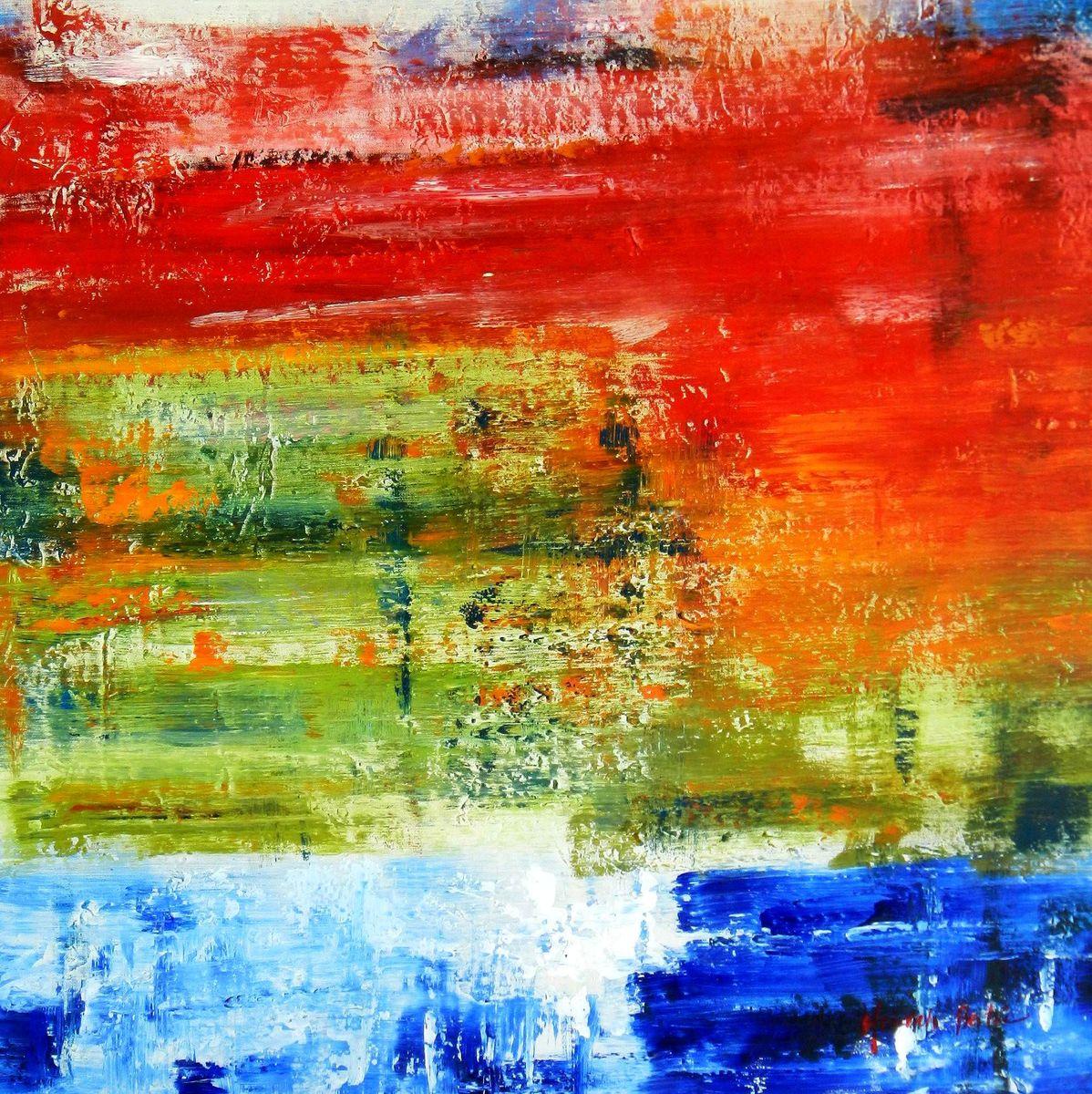 Abstrakt - Dynamische Textur g96164 80x80cm fantastisches Ölbild