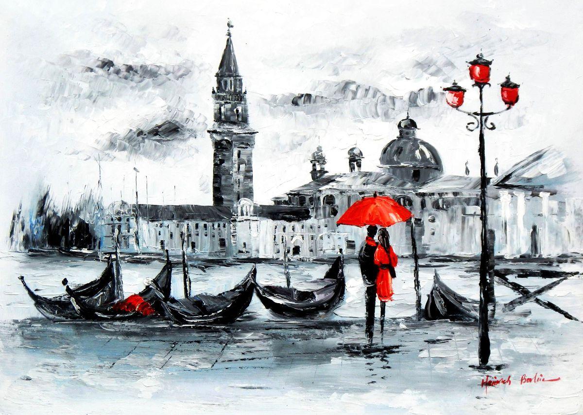 Modern Art - Venedig Canale Grande i96148 80x110cm handgemaltes Gemälde