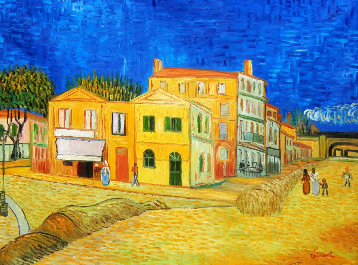 Vincent van Gogh - Das gelbe Haus k96133 90x120cm Gemälde handgemalt