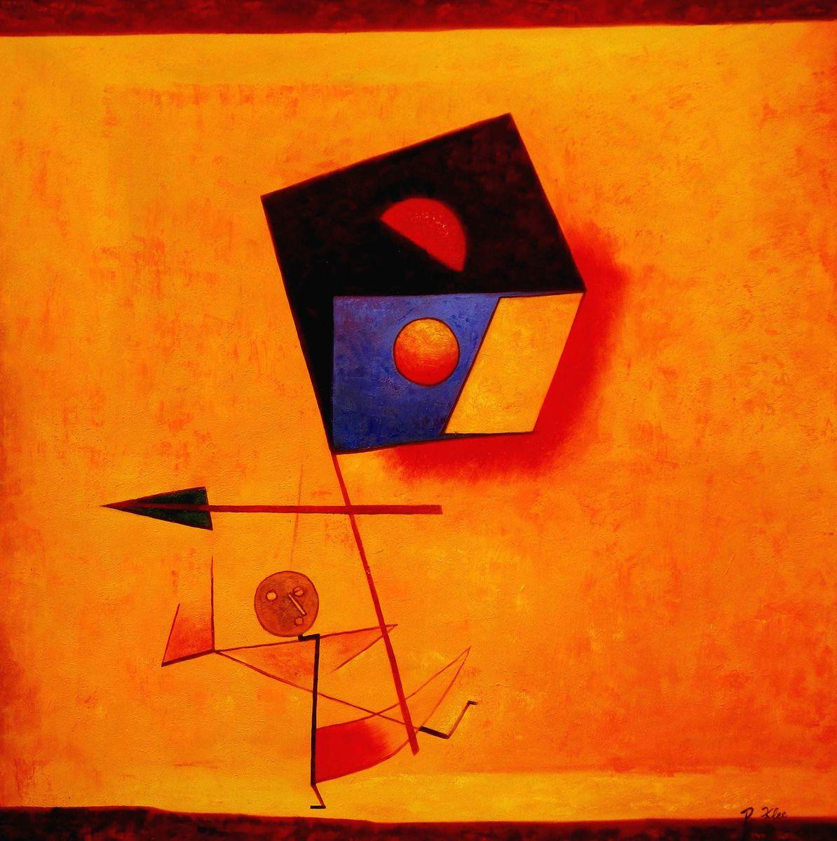 Paul Klee - Conqueror m96098 120x120cm exquisites Ölgemälde