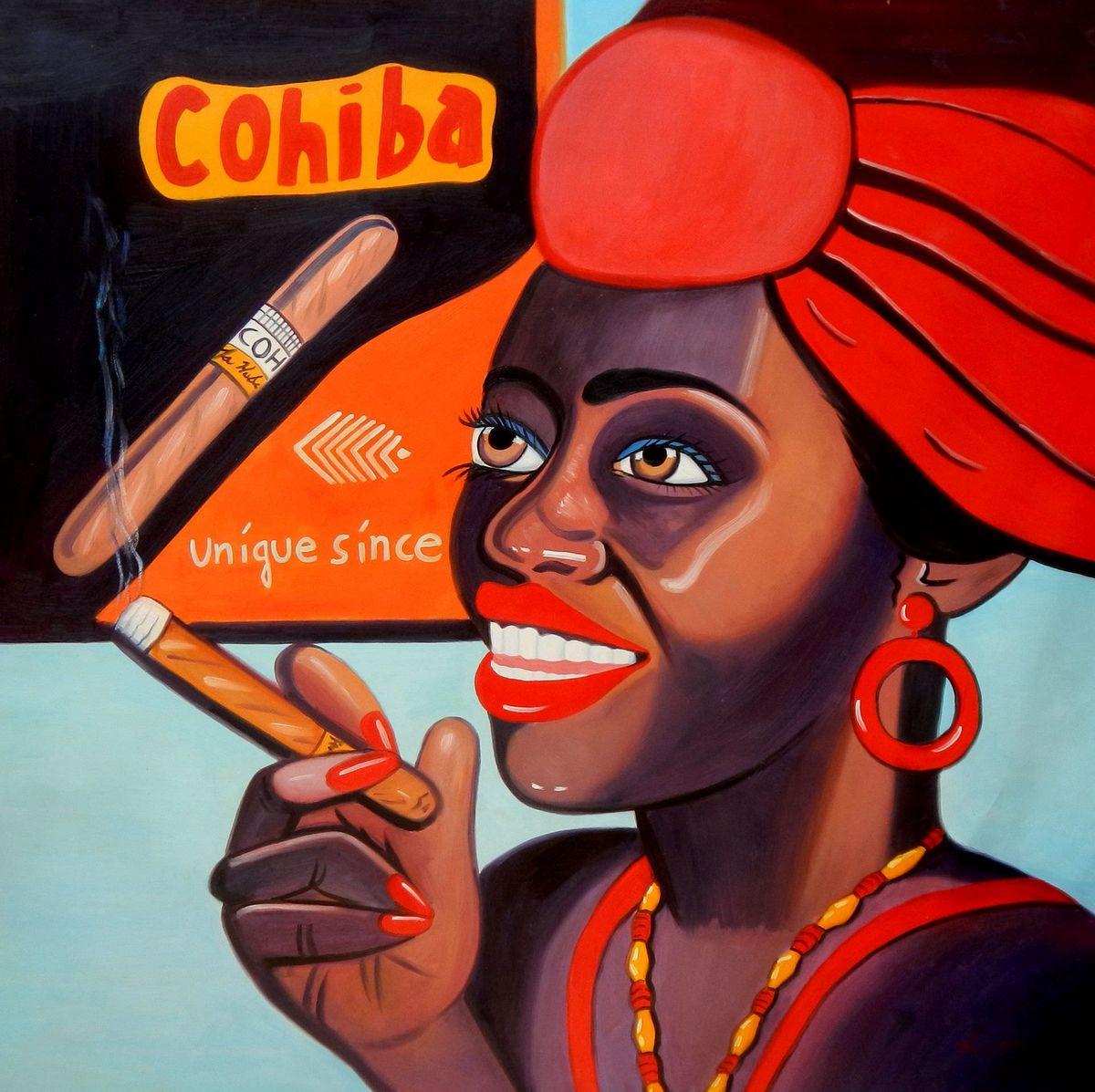 Cuba Cohiba cigars m96101 120x120cm exzellentes Ölgemälde handgemalt