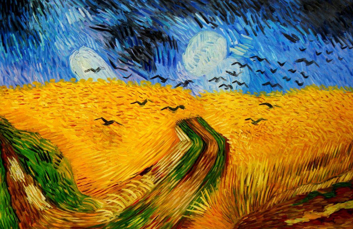 Vincent van Gogh - Kornfeld mit Krähen p96273 120x180cm Ölgemälde handgemalt