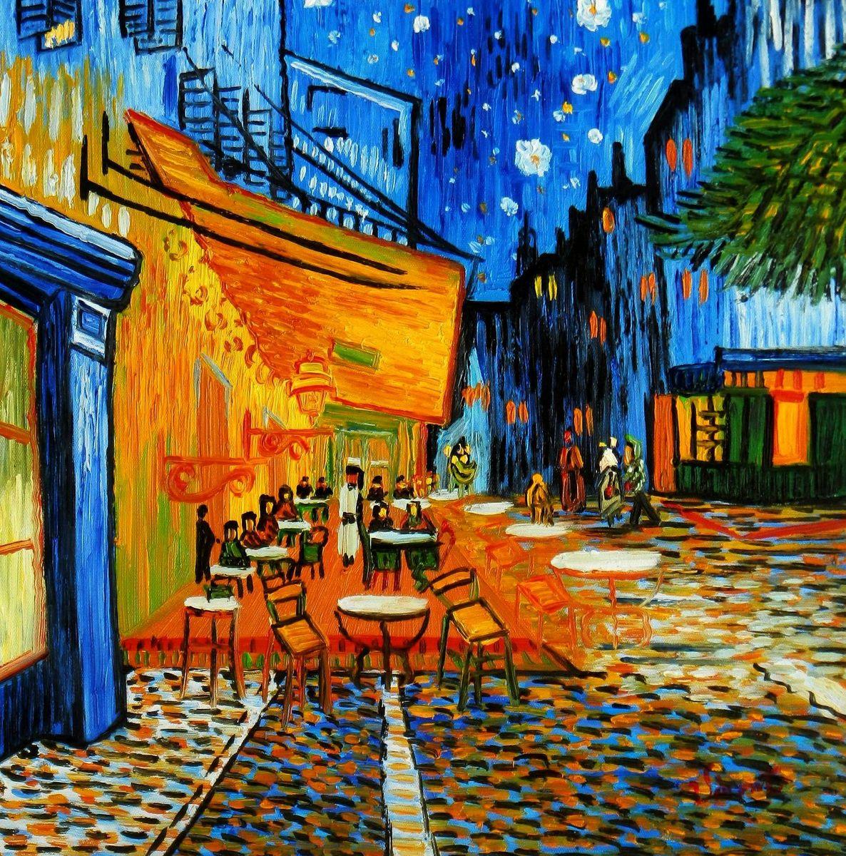 Vincent van Gogh - Nachtcafe x96003 40x40cm exzellentes Ölgemälde handgemalt