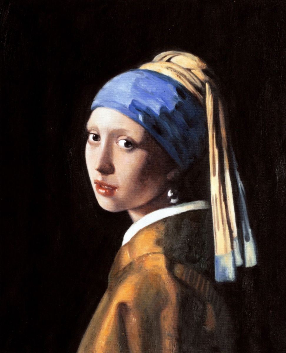 Jan Vermeer - Das Mädchen mit dem Perlenohrring b96958 40x50cm ästhetisches Ölbild Museumsqualität
