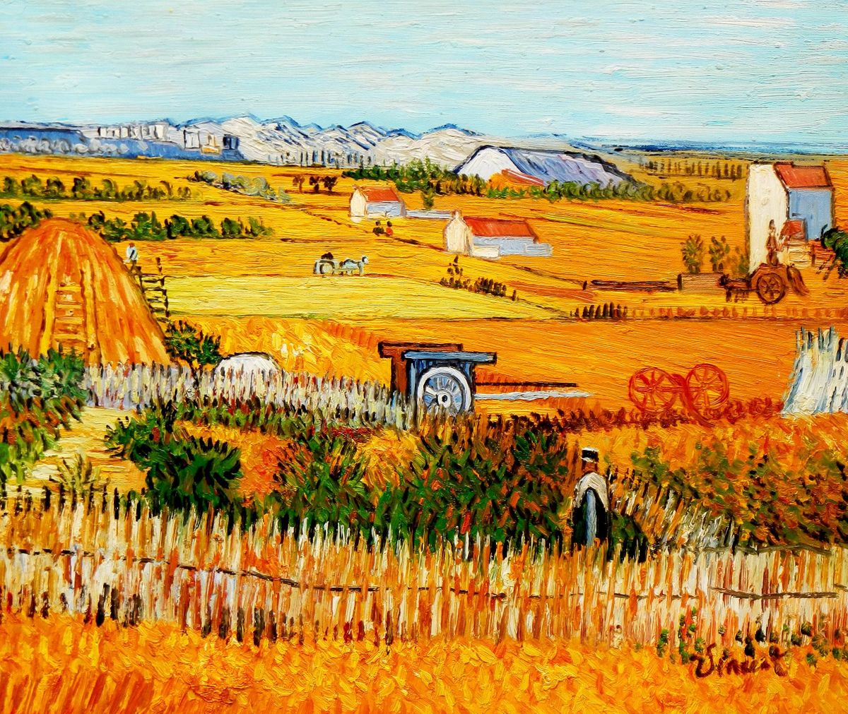 Vincent van Gogh - Erntelandschaft c96065 50x60cm Gemälde handgemalt