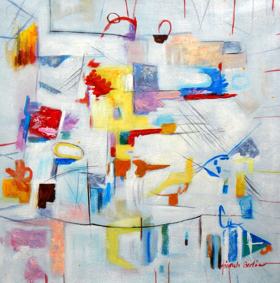 Abstract - Playground e96696 60x60cm abstraktes Gemälde handgemalt