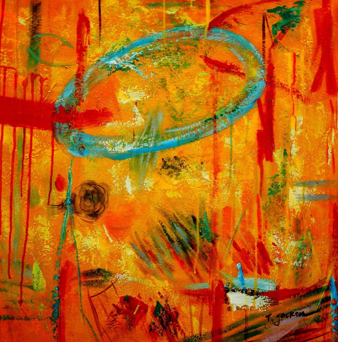 Abstract - The Angola wildlife II e96697 60x60cm abstraktes Ölbild