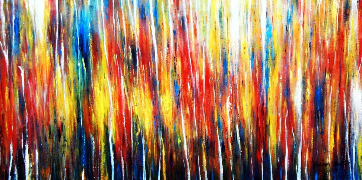 Abstract - Transitions f96809 60x120cm abstraktes Gemälde handgemalt