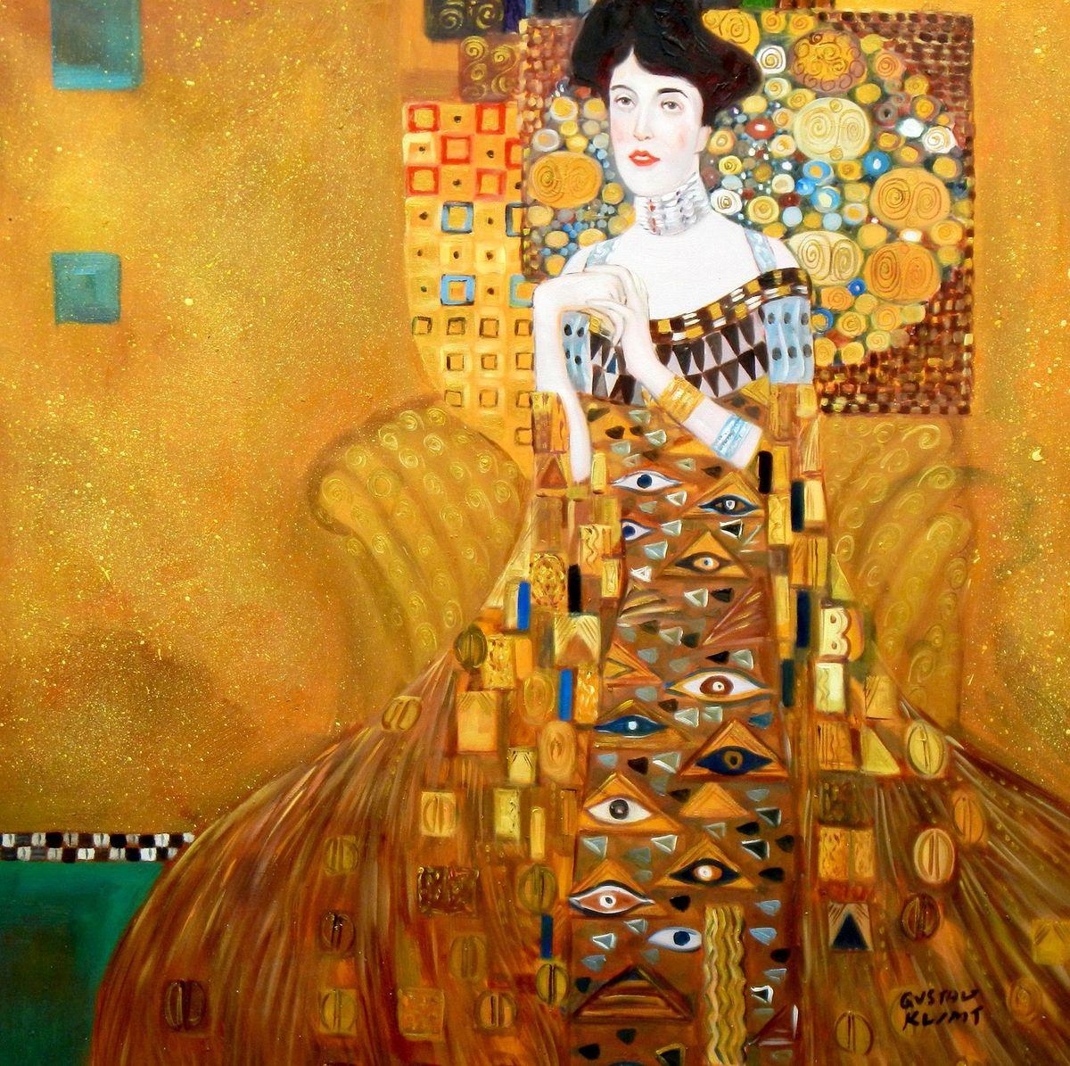Gustav Klimt - Adele Bloch Bauer I g96817 80x80cm exzellentes Ölbild handgemalt