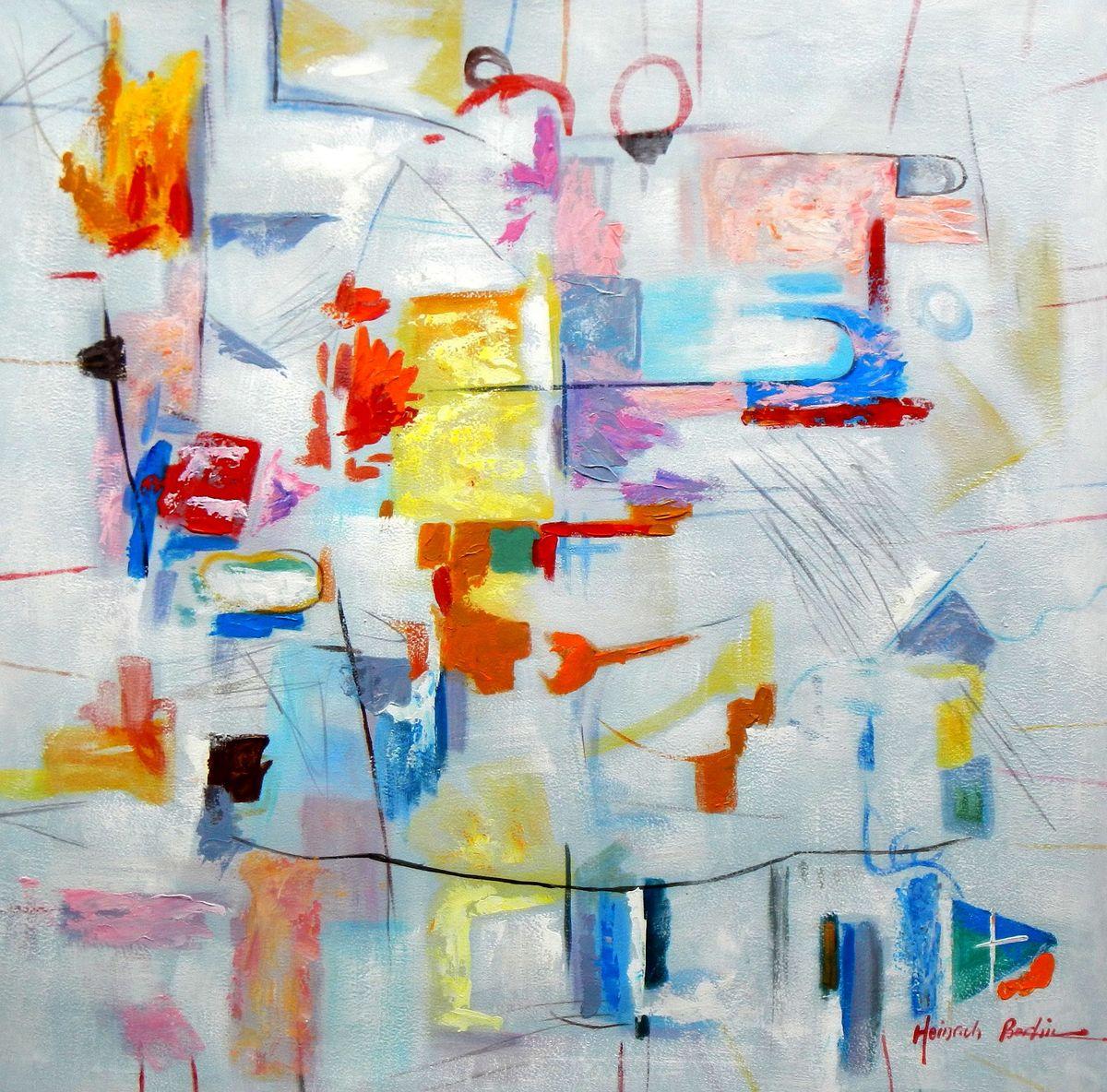 Abstract - Playground g96824 80x80cm abstraktes Gemälde handgemalt