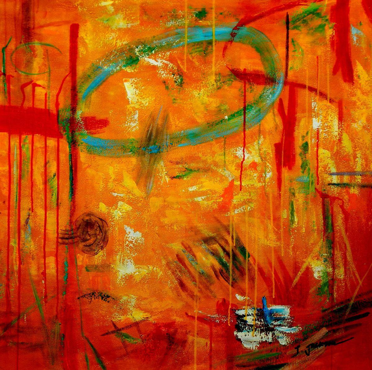 Abstract - The Angola wildlife II g96835 80x80cm abstraktes Ölbild