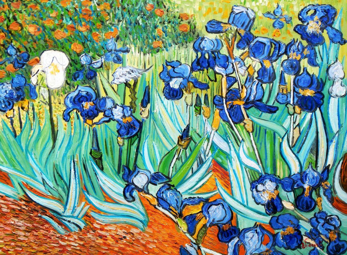 Vincent van Gogh - Blaue Iris i96875 80x110cm exzellentes Ölgemälde handgemalt