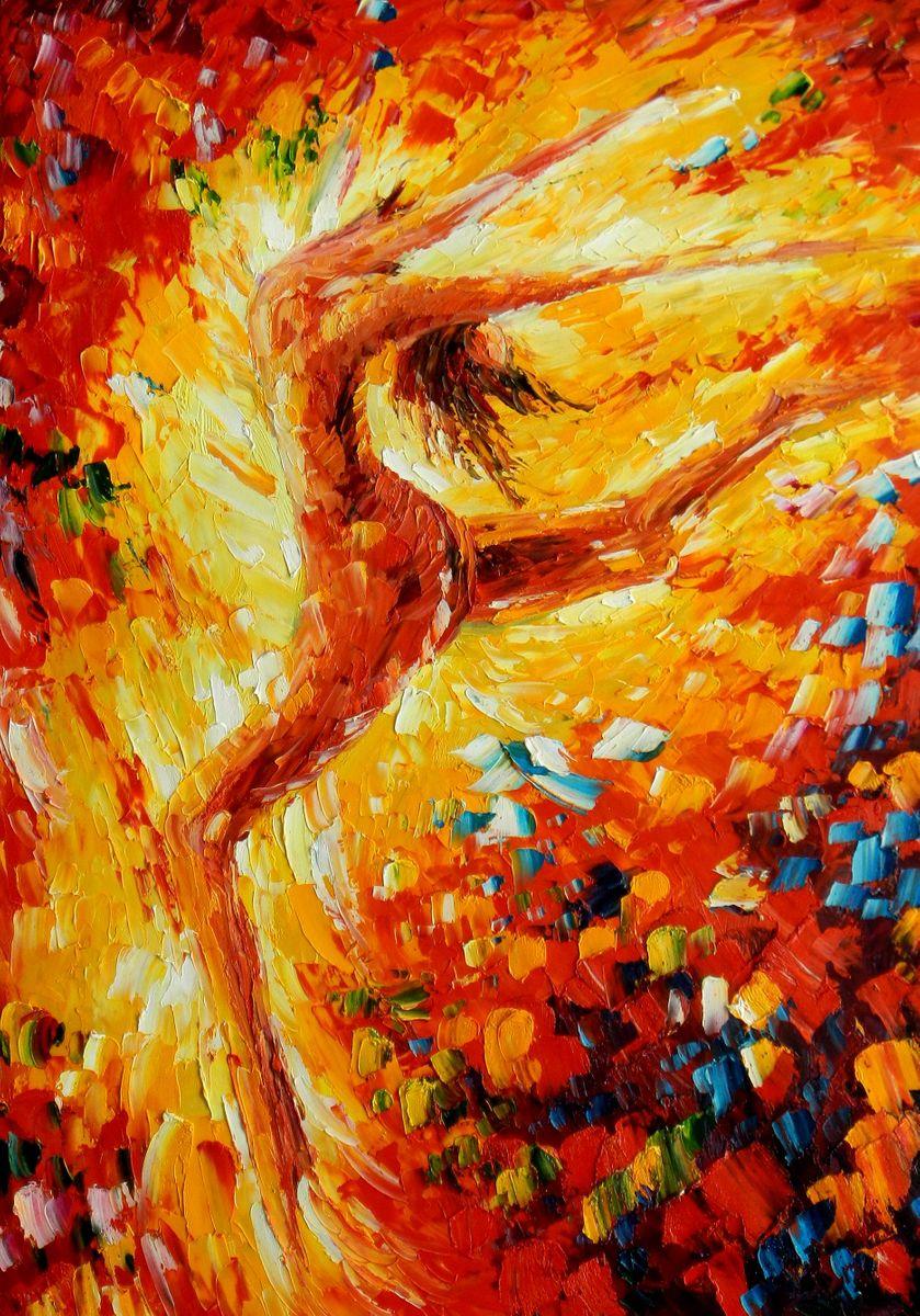 Modern Art - Passion der Tänzerin i96881 80x110cm abstraktes Ölbild