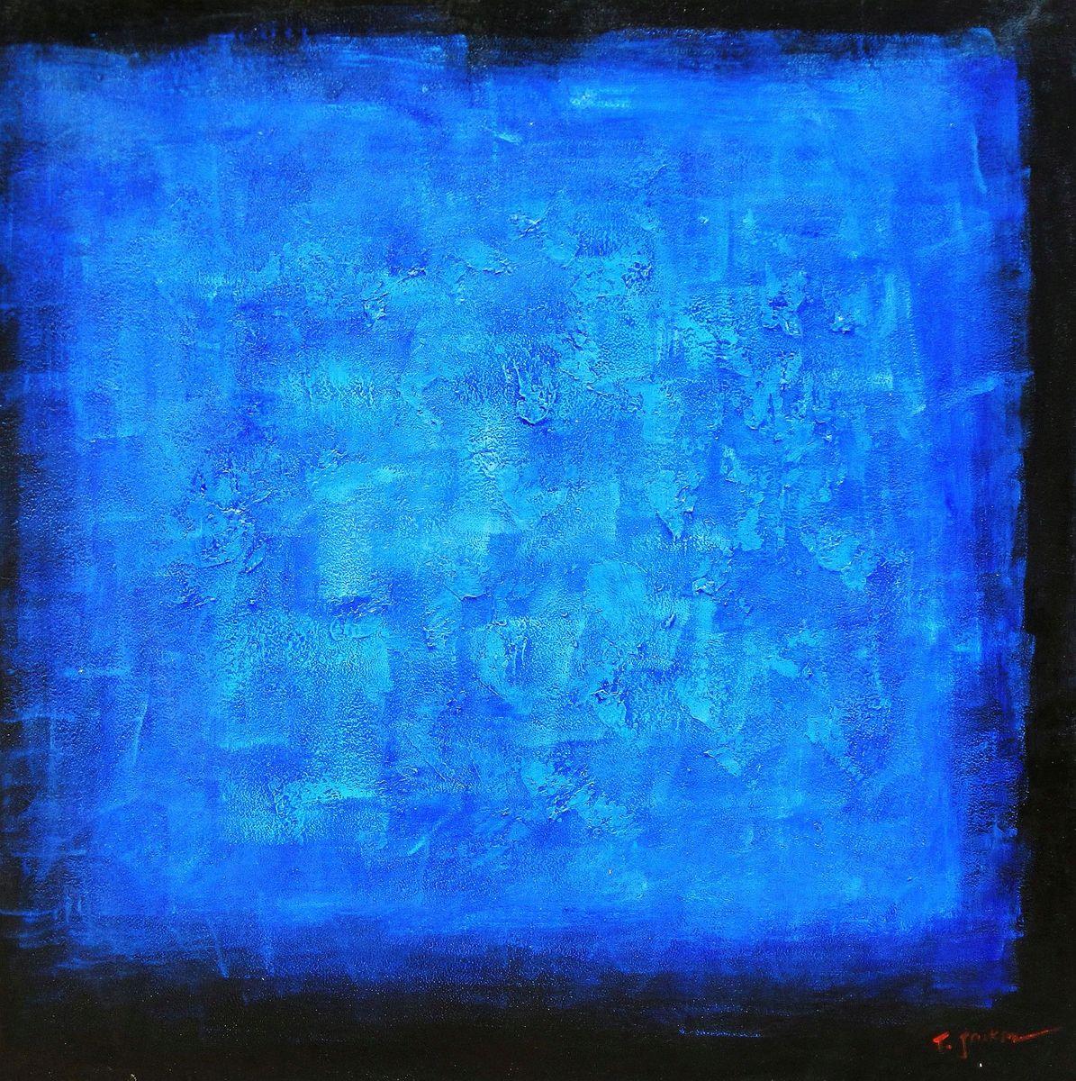 Abstrakt - Black Saphir m96927 120x120cm abstraktes Ölgemälde handgemalt