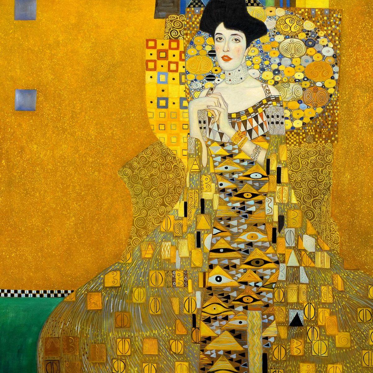 Gustav Klimt - Adele Bloch Bauer I m96956 120x120cm exzellentes Ölbild handgemalt Museumsqualität