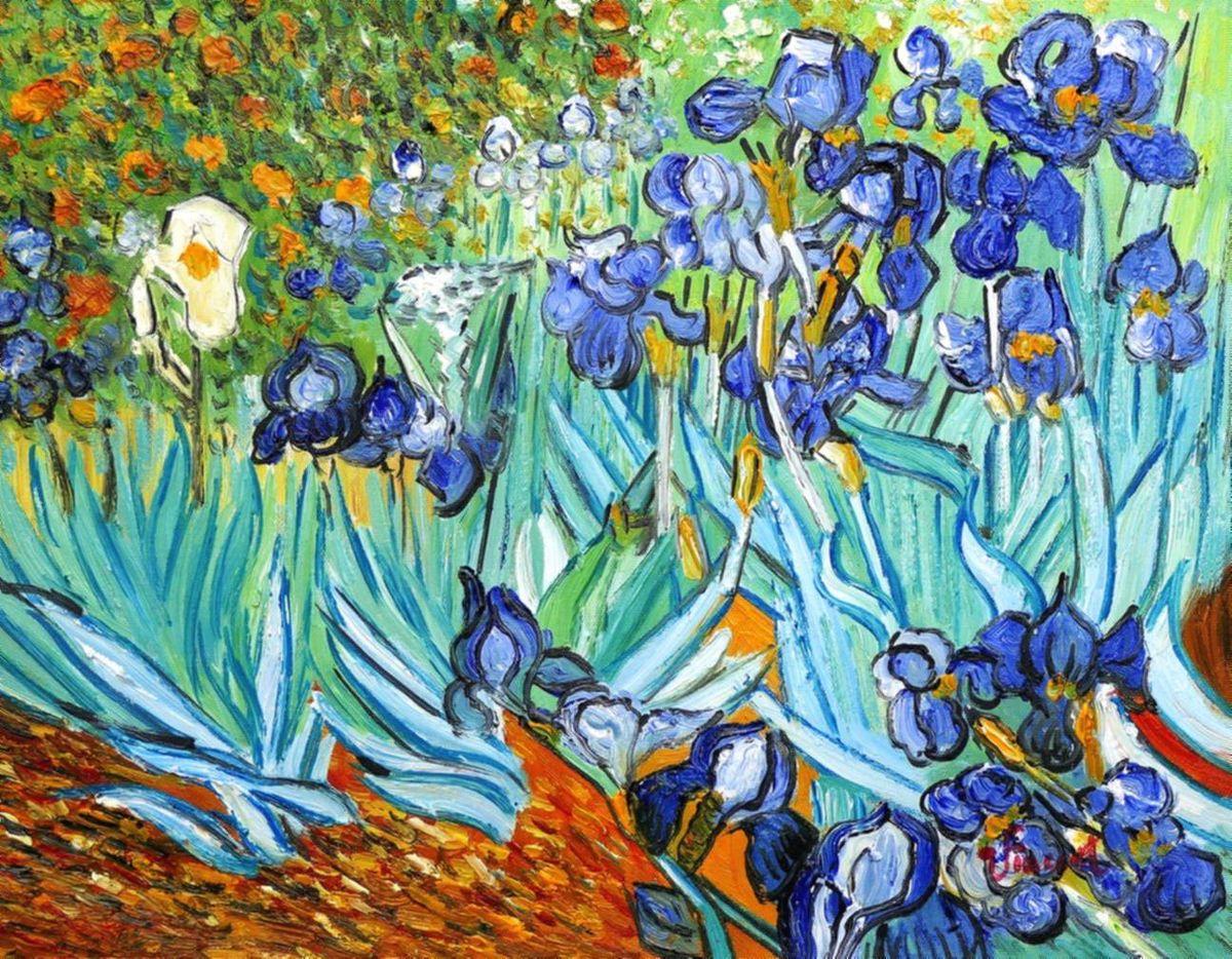 Vincent van Gogh - Blaue Iris a96973 30x40cm exzellentes Ölgemälde handgemalt