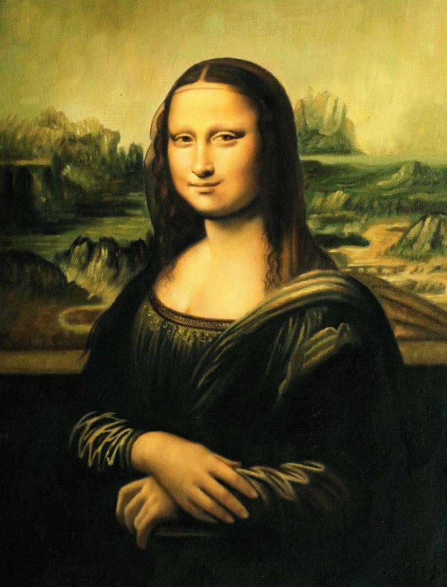 Leonardo da Vinci - Mona Lisa a97207 30x40cm exquisites Ölgemälde Museumsqualität