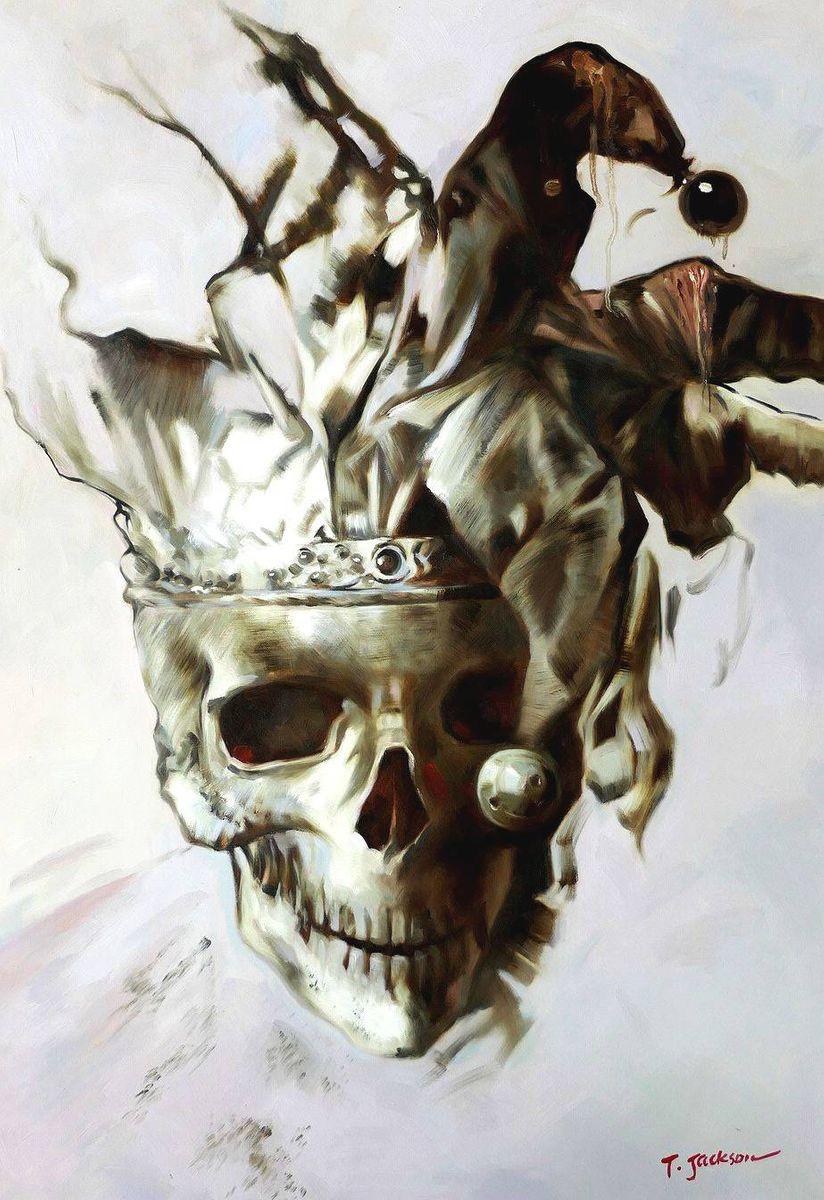 Modern Art - Joker skull d97066 60x90cm exquisites Gemälde