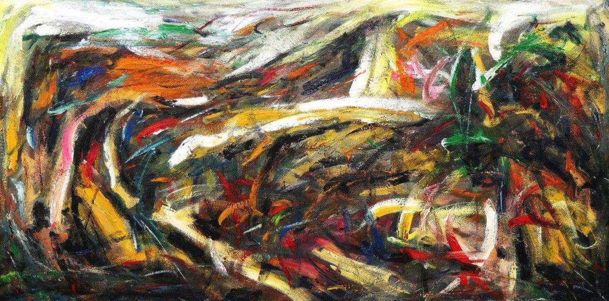 Abstract - Into the wild f97106 60x120cm abstraktes Ölgemälde handgemalt