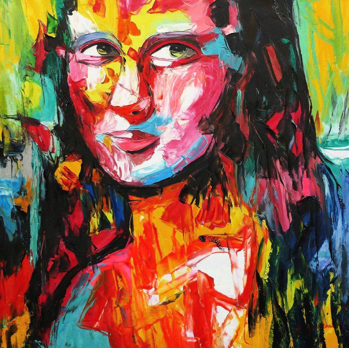 Modern Art - Mona Lisa g97133 80x80cm exquisites Ölbild