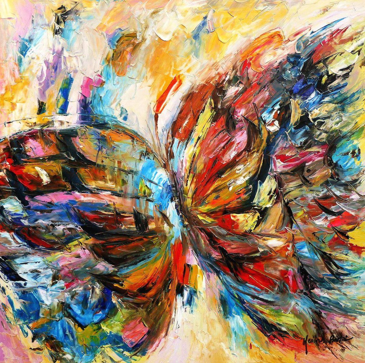 Modern Art - Die Schönheit der Natur g97135 80x80cm beeindruckendes Gemälde