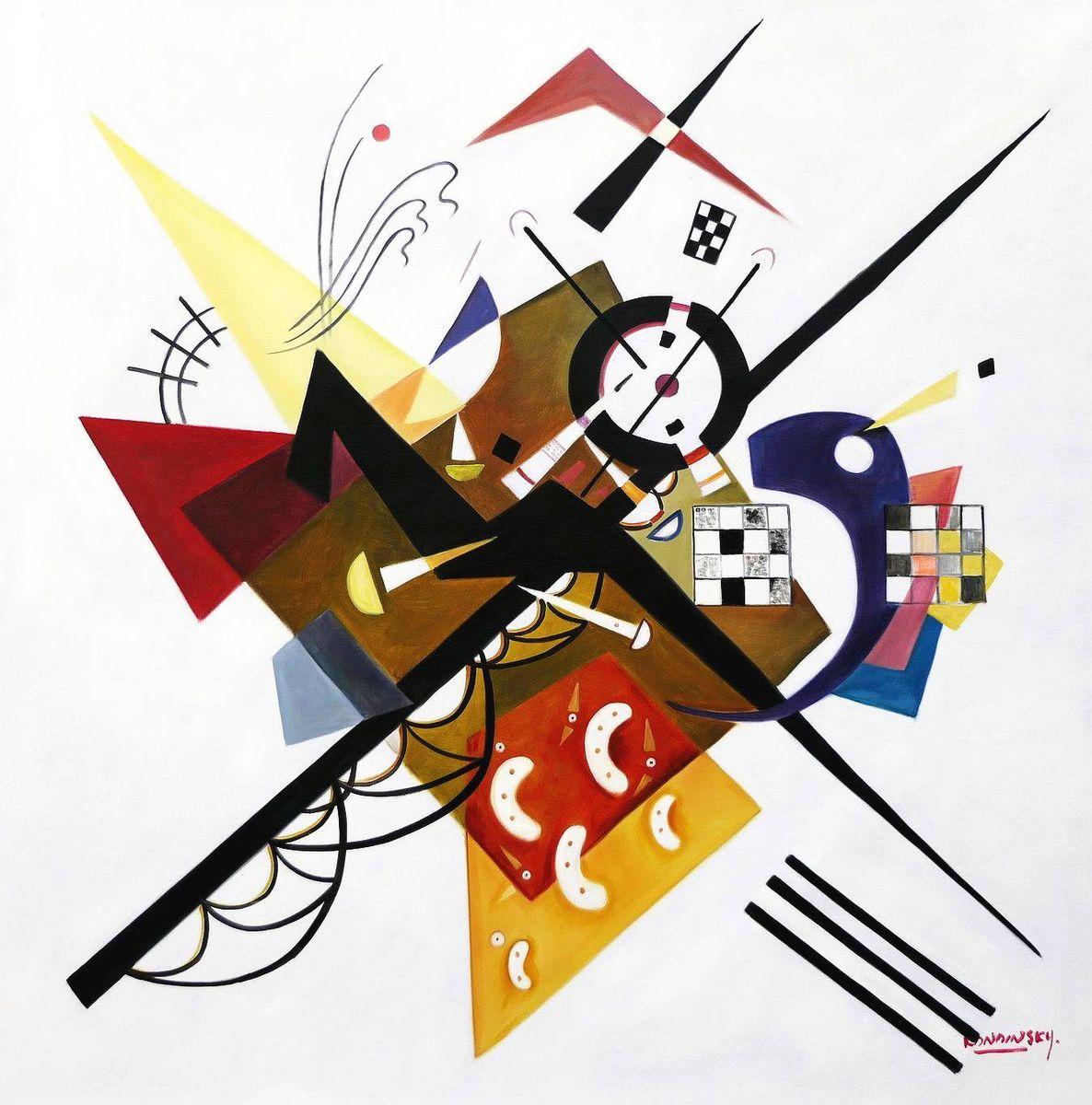 Wassily Kandinsky - Gleichgewicht in der Zusammensetzung m97172 120x120cm Ölbild