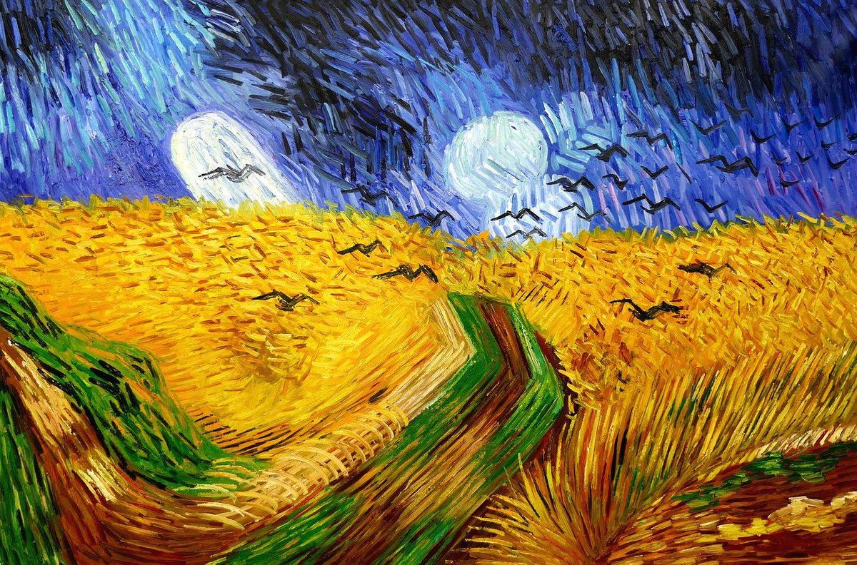 Vincent van Gogh - Kornfeld mit Krähen p97192 120x180cm Ölgemälde handgemalt