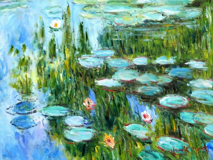 Claude Monet - Seerosen im Frühling a97228 30x40cm Ölgemälde handgemalt