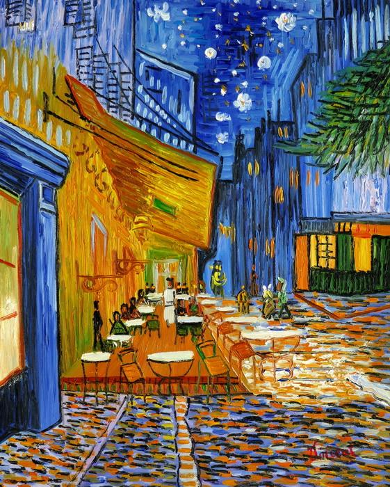 Vincent van Gogh - Nachtcafe b97246 40x50cm exzellentes Ölgemälde handgemalt