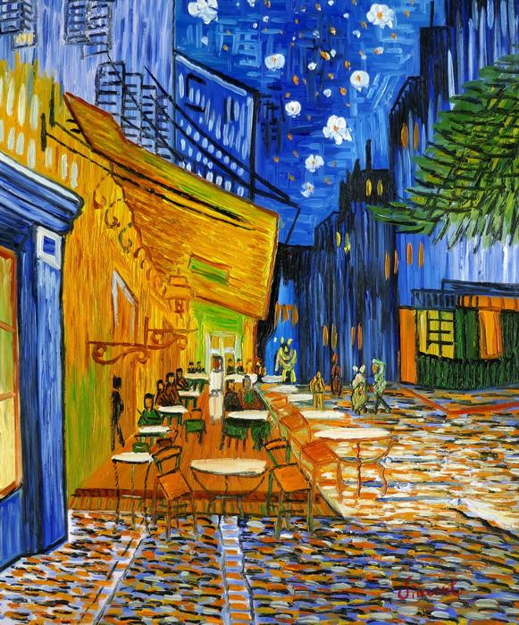 Vincent van Gogh - Nachtcafe c97262 50x60cm exzellentes Ölgemälde handgemalt