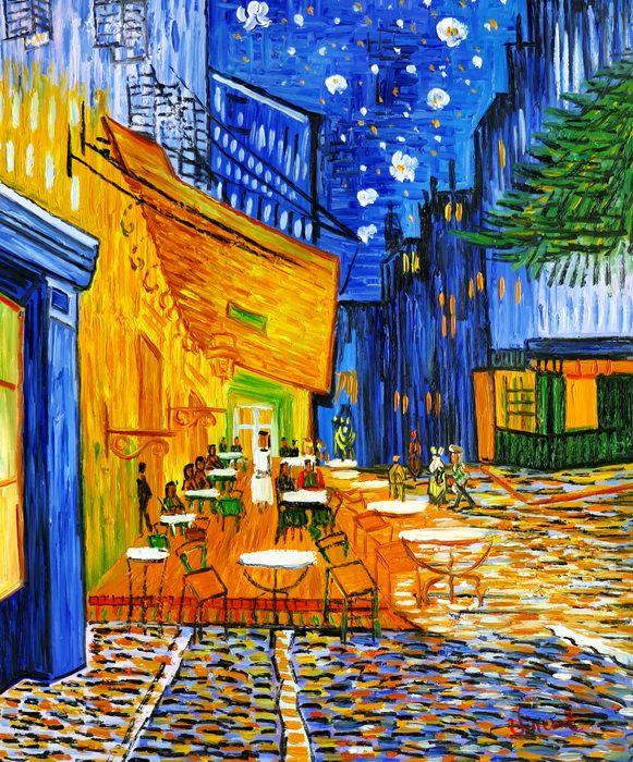 Vincent van Gogh - Nachtcafe c97263 50x60cm exzellentes Ölgemälde handgemalt