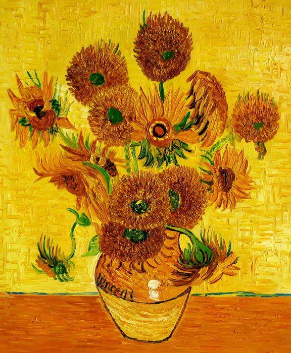 Vincent van Gogh - Fünfzehn Sonnenblumen c97272 50x60cm Ölgemälde handgemalt