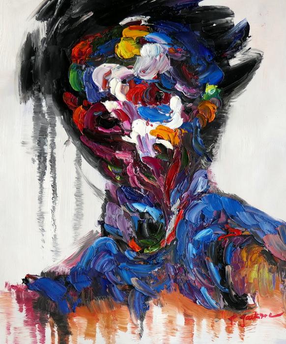 Abstract - Person of interest c97284 50x60cm exquisites Ölbild