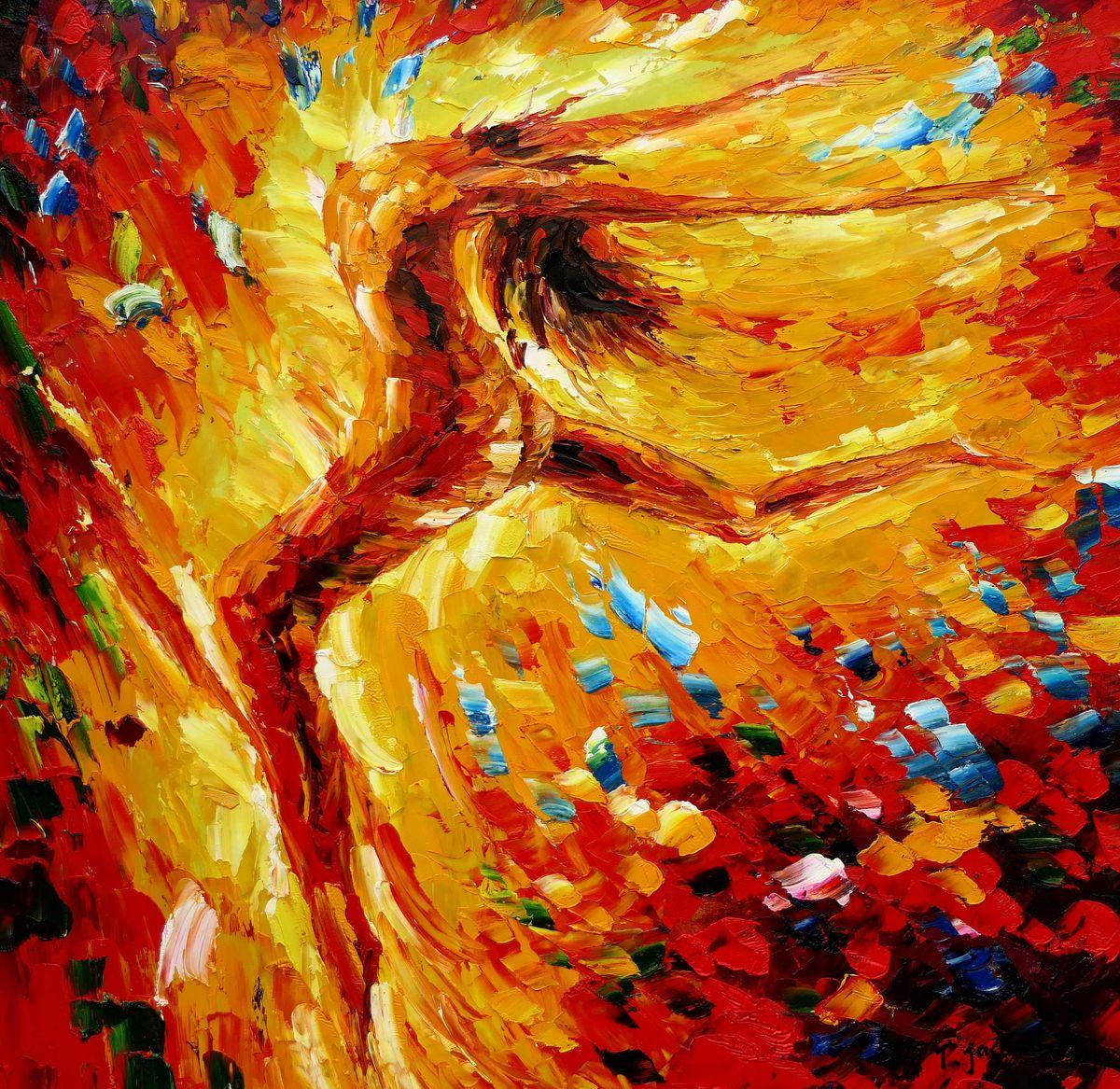 Modern Art - Passion der Tänzerin g97431 80x80cm abstraktes Ölbild