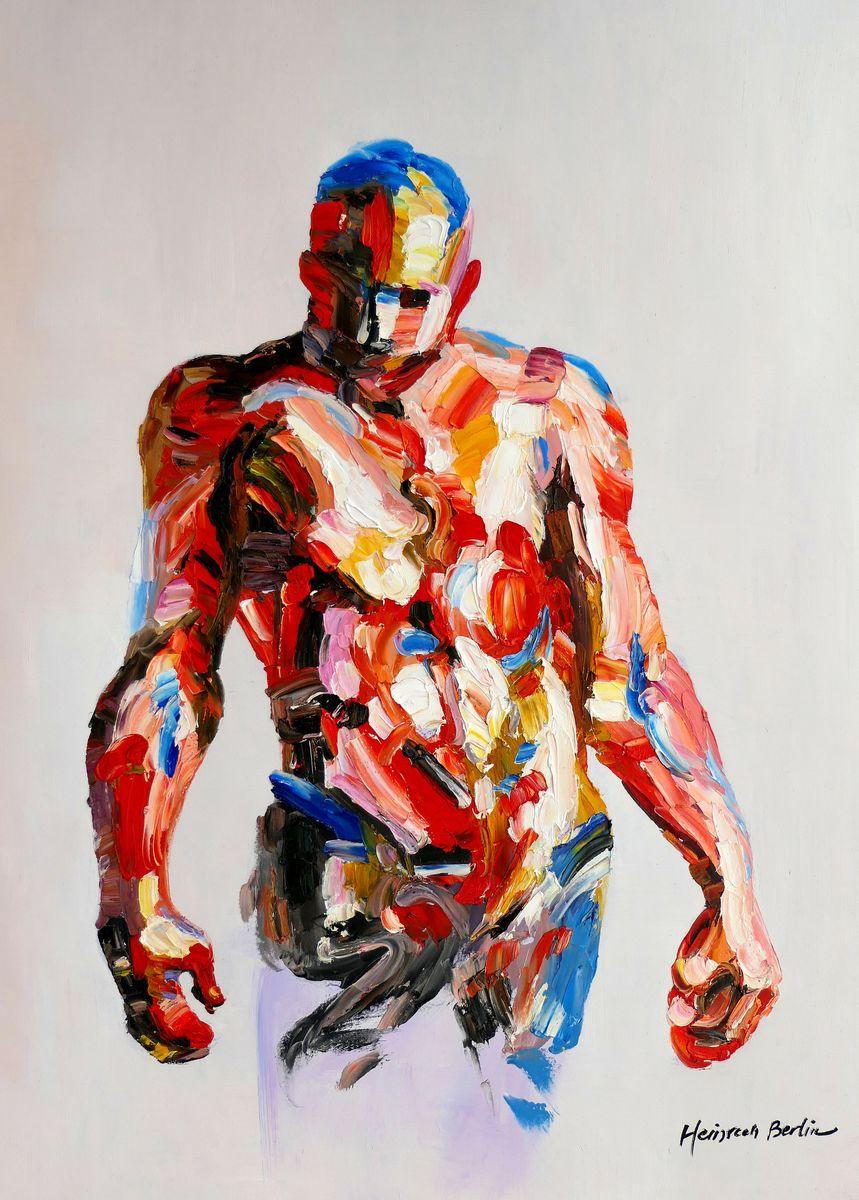 Abstrakt - Akt des Adam i97455 80x110cm exquisites Ölbild