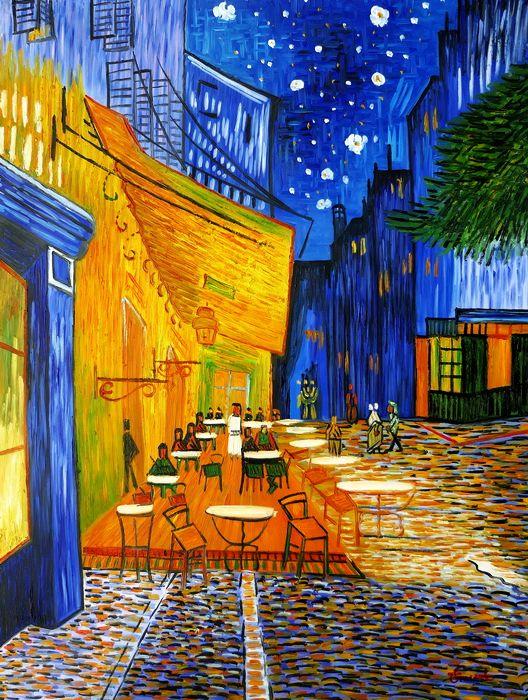 Vincent van Gogh - Nachtcafe k97486 90x120cm exzellentes Ölgemälde handgemalt