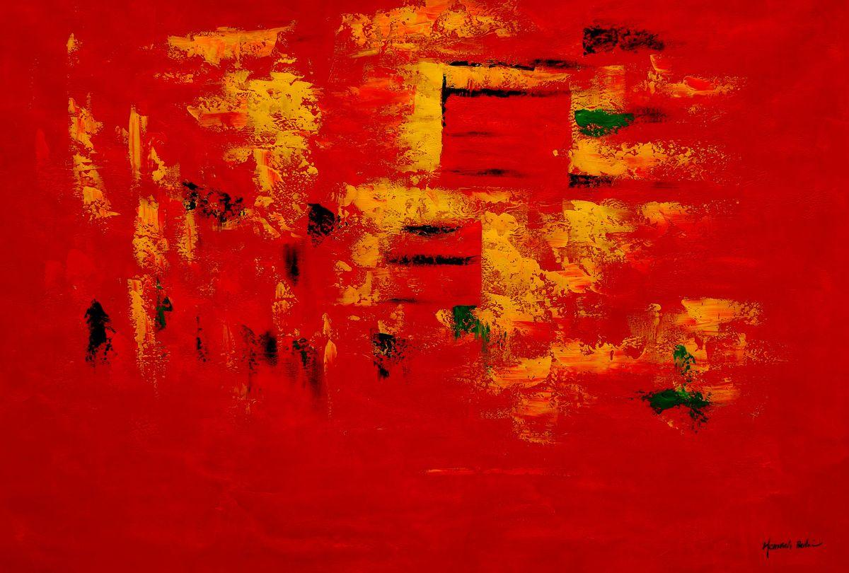Abstrakt - Hot summer in Santa Fe p97535 120x180cm Ölbild handgemalt