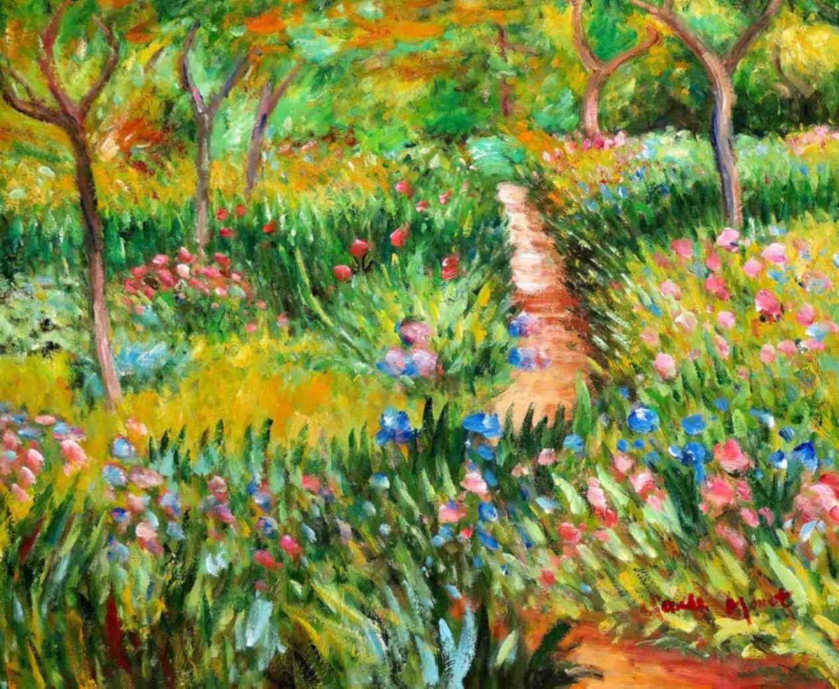 Claude Monet - Monet´s Garten in Giverny b97738 40x50cm exzellentes Ölgemälde