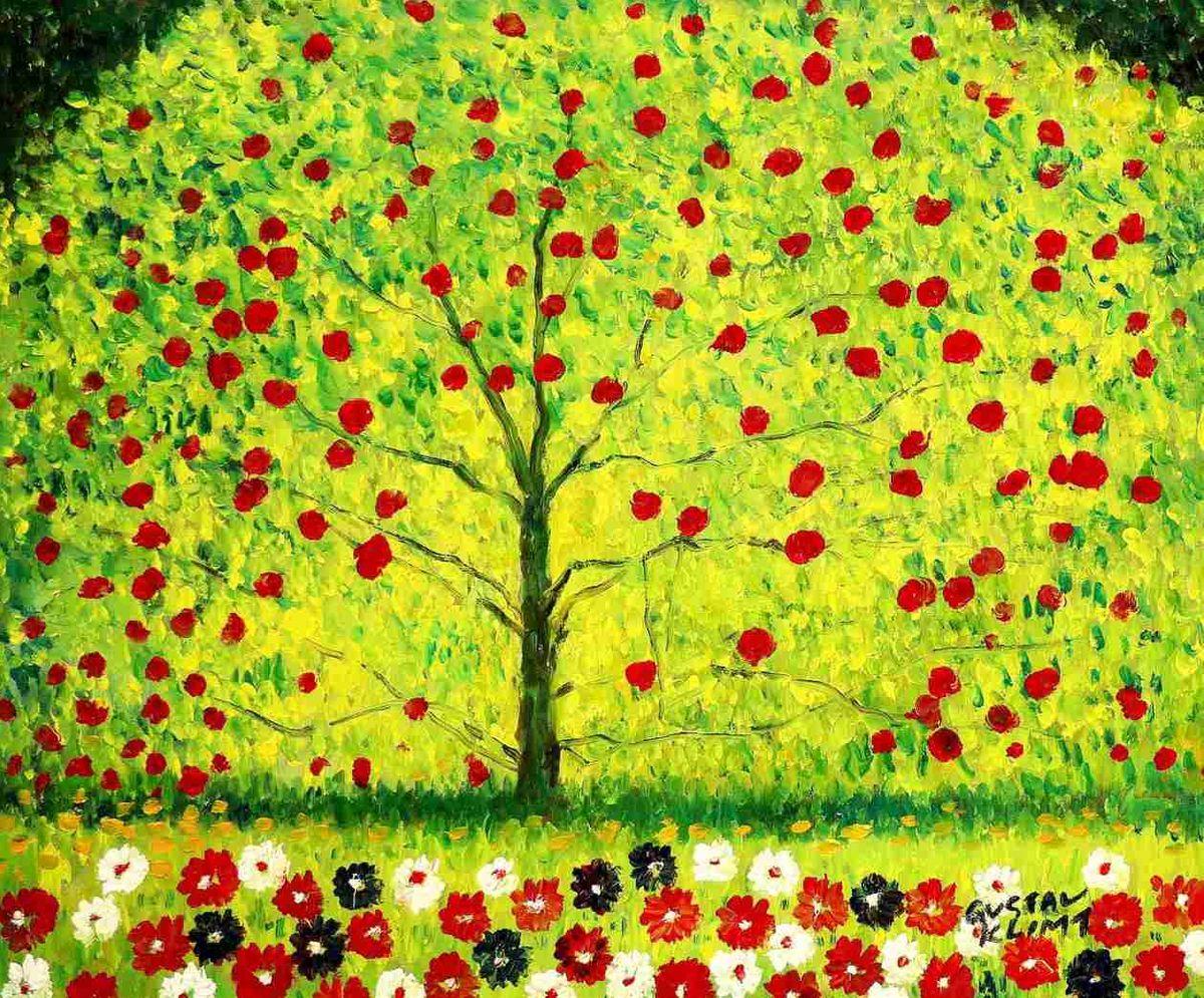 Gustav Klimt - Der Apfelbaum c97789 50x60cm bemerkenswertes Ölgemälde handgemalt