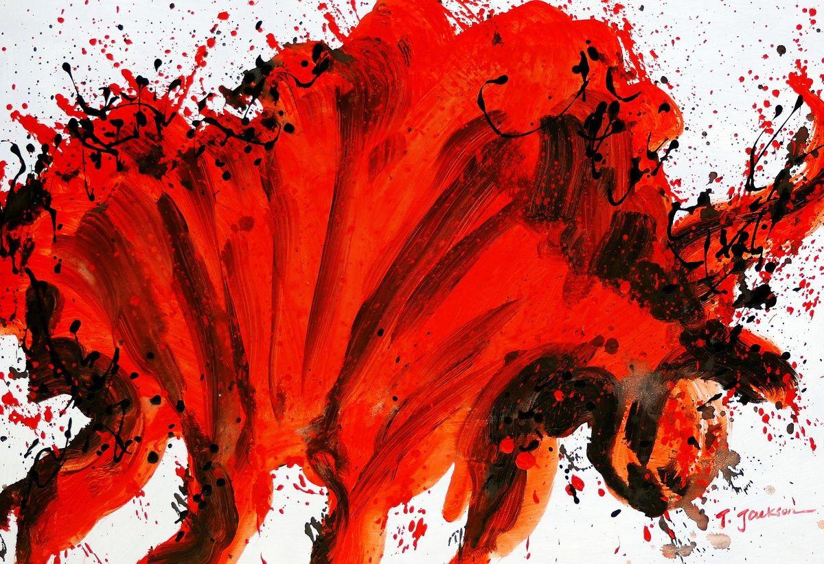 Abstract - bloodline recoil d97816 60x90cm abstraktes Ölgemälde