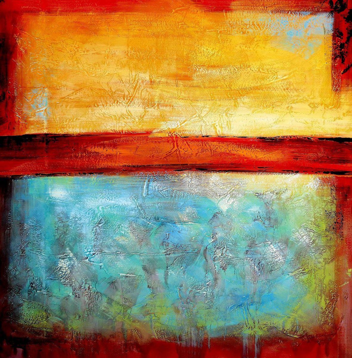 Abstract - Mirage in Babylon m98002 120x120cm abstraktes Ölbild