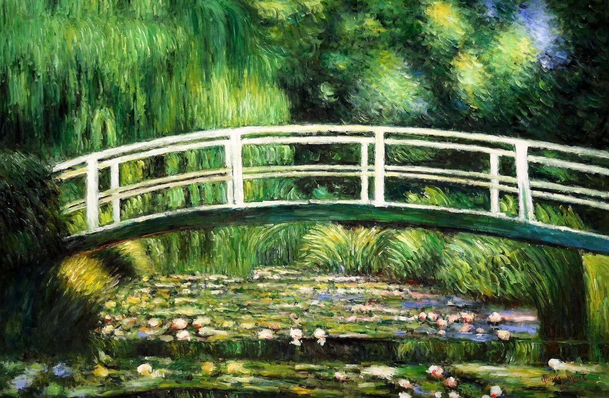 Claude Monet - Brücke über dem Seerosenteich p98056 120x180cm Ölbild handgemalt