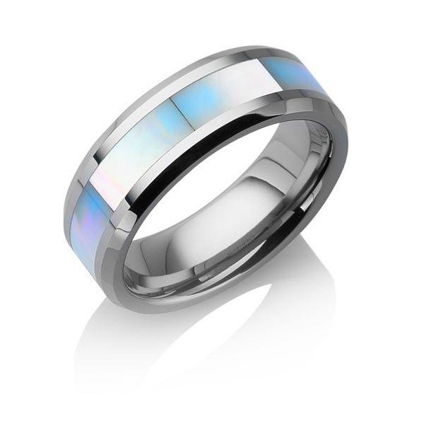 "Tungstino Ring ""Perlmutt"" Wolframcarbid"