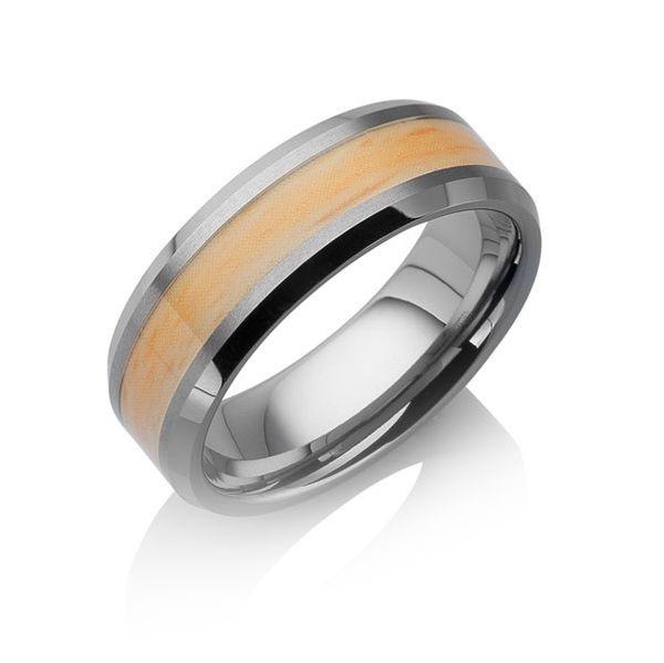 "Tungstino Ring ""Eichenholz"" Wolframcarbid"