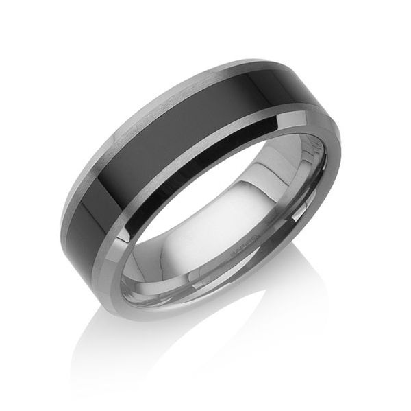 "Tungstino Ring ""Black Inlay"" Wolframcarbid"