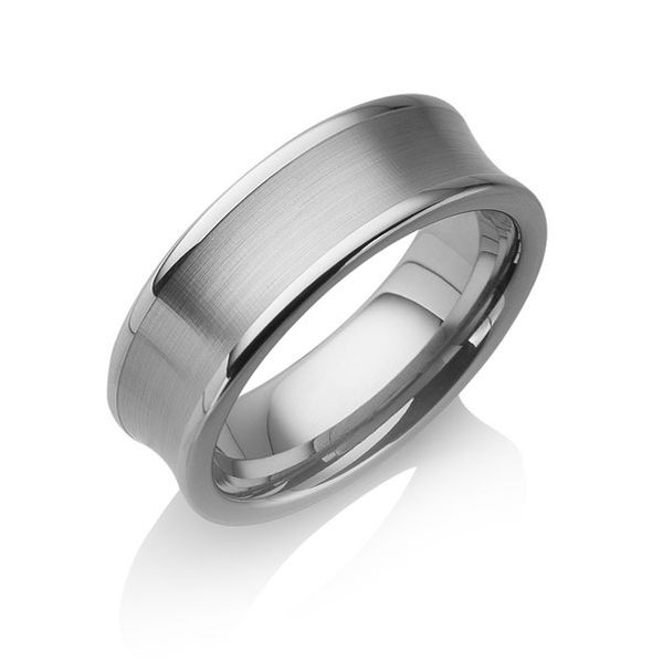 "Tungstino Ring ""Concave brushed"" Wolframcarbid"