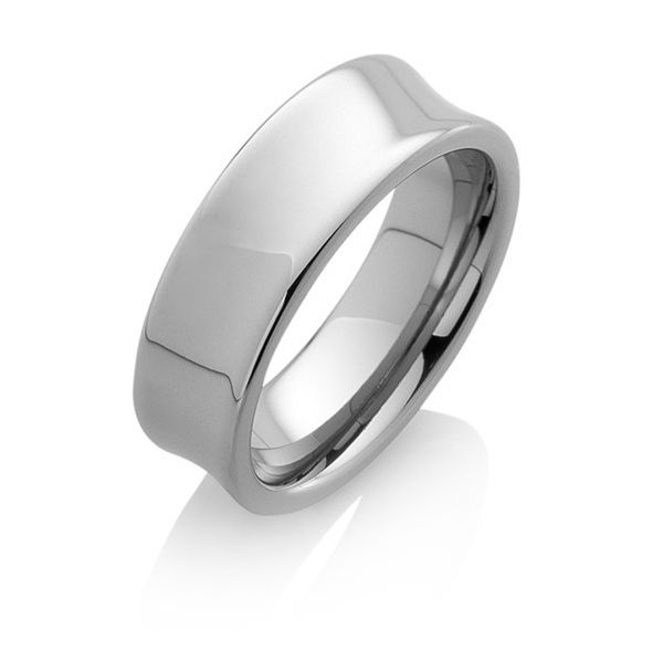 "Tungstino Ring ""Concave"" Wolframcarbid"