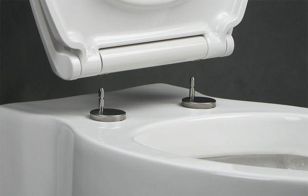 """WC-Sitz """"Modern"""" mit Absenkautomatik in Weiss (Duroplast)"""